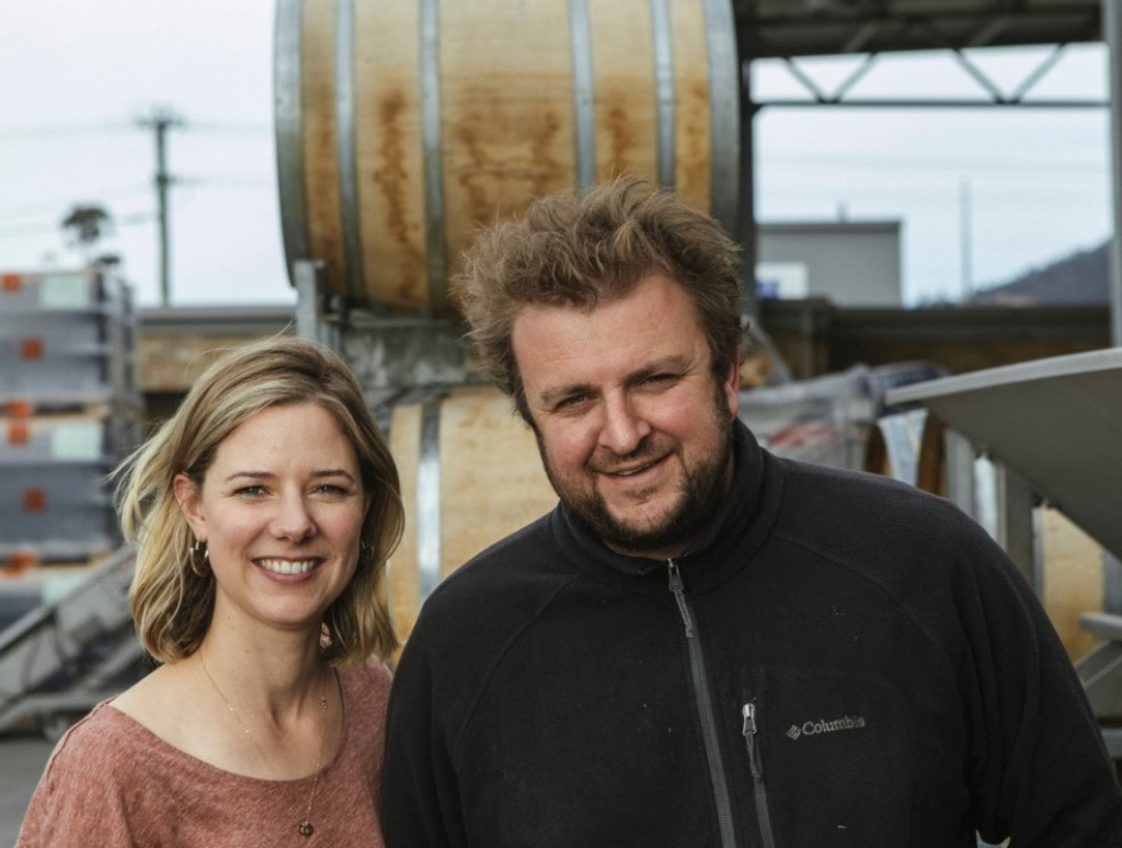 BABO winemaker Justin and wife Anna - winemaking stars